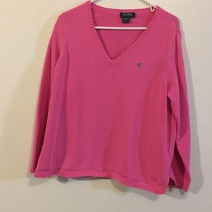 Ralph Lauren Pink Women's Sweater SzL Pre💗ed NICE